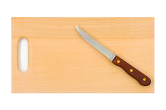 Knife and chopping board Royalty Free Stock Photos
