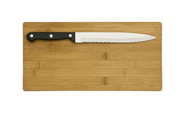 Knife on the chopping board royalty free stock photo