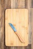 Knife Chopping Board Stock Photo