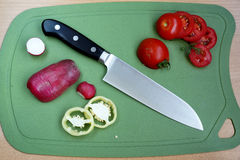 Knife cook universal with a blade like Santoku Royalty Free Stock Photo