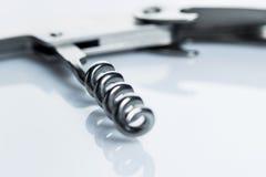 Knife with corkscrew. Multi purpose knife with corkscrew Stock Photos