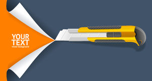 Knife Cut Paper. Vector. Knife Cut Paper. Image for Business. Vector illustration Royalty Free Stock Photos