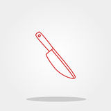 Knife cute icon in trendy flat style isolated on color background. Kitchenware symbol for your design, logo, UI. Vector illustrati Royalty Free Stock Photos