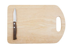 Knife on cutting board isolated Royalty Free Stock Photo