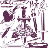 Knife and Dagger Collection Royalty Free Stock Photo