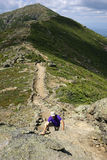 The Knife Edge on Lafayette Ridge, Appalachian Trail Stock Image