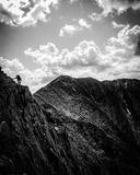 Knife Edge. New England Hike Royalty Free Stock Image