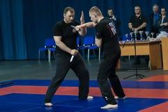 Knife fight, Orenburg, Russia Stock Photos