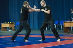 Knife fight, Orenburg, Russia Stock Photography