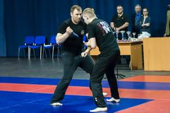 Knife fight, Orenburg, Russia Royalty Free Stock Photos