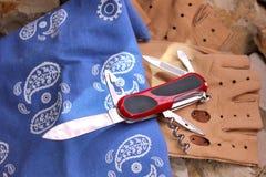 Knife folding Stock Photo