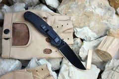 Knife folding Royalty Free Stock Photo