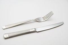 Knife and fork. Kitchen equipment knife and fork stock image