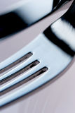 Knife and fork. Clean royalty free stock photos