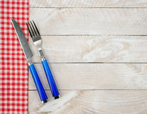 Knife and fork background Stock Image