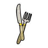 knife and fork cartoon Royalty Free Stock Photos