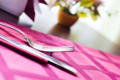 Knife and fork closeup Royalty Free Stock Image