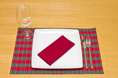 Knife and fork with glass Royalty Free Stock Images