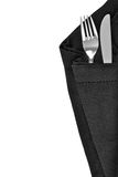 Knife and fork isolated Stock Photography