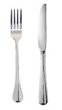 Knife and fork. Fork and knife isolated on white background Royalty Free Stock Photos