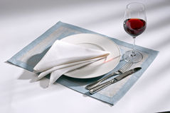 Knife, fork and plate Stock Photos