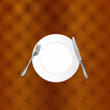 Knife,fork and plate Royalty Free Stock Photo