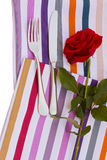 Knife and fork with rose Royalty Free Stock Photos