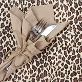 Knife and fork for a safari theme Royalty Free Stock Images