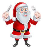 Knife and Fork Santa Stock Images