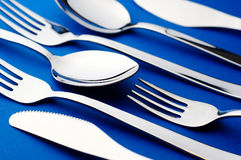 Knife fork and spoon. Group of knife fork and spoon stock photos