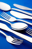 Knife fork and spoon. Group of knife fork and spoon Stock Photography