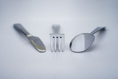 Knife fork and spoon Royalty Free Stock Image