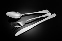 Knife, fork,  spoon Royalty Free Stock Photos