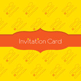 Knife Fork Spoon Invitation Card Stock Photo