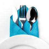 Knife, Fork, Spoon isolated Royalty Free Stock Photo