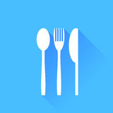 Knife Fork and Spoon Royalty Free Stock Photo