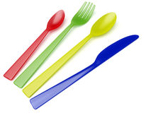 Knife, fork, spoon, teaspoon Royalty Free Stock Photos