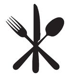 Knife, fork and spoon. Vector illustration of knife, fork and spoon vector illustration