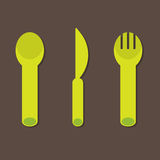 Knife Fork Spoon Royalty Free Stock Photography