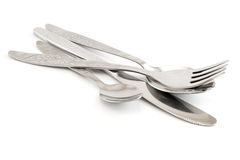 Knife fork spoons Stock Photos