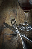 Knife and fork still life Royalty Free Stock Photo