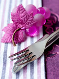 Knife and fork. Table set. Royalty Free Stock Image