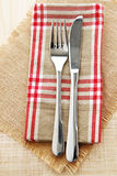 Knife and fork table setting Royalty Free Stock Photo