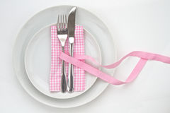 Knife and fork  table setting Royalty Free Stock Images