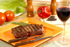 Knife and fork to eat meat Royalty Free Stock Image
