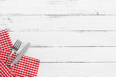 Knife and fork on white background Royalty Free Stock Photography