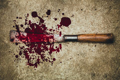 Murder Concept  Knife With Blood On White Background