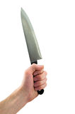 Knife in hand Royalty Free Stock Photo
