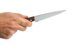 Knife in hand Royalty Free Stock Photos