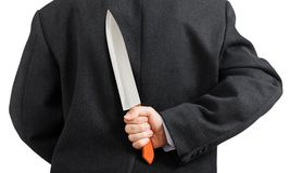 Knife in hand Stock Photos